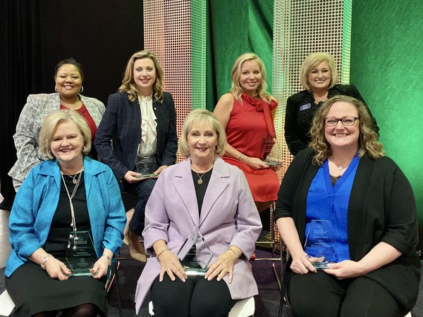 The 2019 Women in Business honorees are as follows (row 1, from left): Donna Seal, Outstanding Woman in Business; Velda Lueders, Diamond Achievement Award recipient; Melissa Allen, Outstanding Woman in Nonprofit; (row 2, from left) Jamisa Nuness-Hogan, Outstanding Woman in Business; Rebekah Fincher, Outstanding Woman in Business; Cinda Montgomery, Outstanding Woman in Business; and Rita Birch, Outstanding Woman in Business.