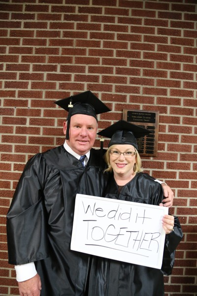 "The flexible format and delivery method provided by Central Baptist College's PACE program made it possible for Amy Reed and her husband, Donnie, to complete their degrees and graduate together. ""It was important to both of us to set an example for our girls,"" Amy said."