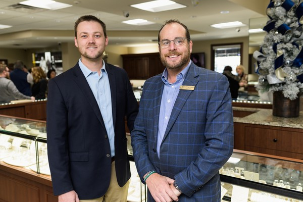 Left to right: William Jones (Sissy's Log Cabin VP of Operations) and J.R. (Sissy's Log Cabin Conway Store Manager)
